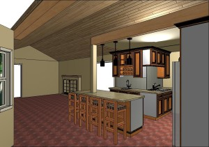 CAD Rendering of the Escondido Kitchen Remodel by Envision Design