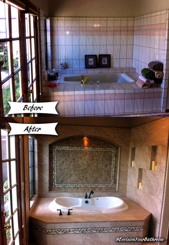 Before and After - Bathroom Remodel San Diego