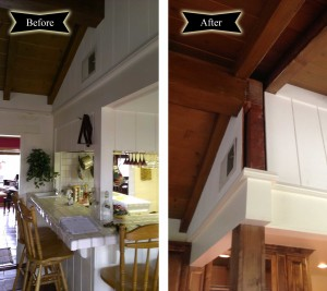 Before and After: Lifted Ceiling | Envision Design Escondido Kitchen Remodel
